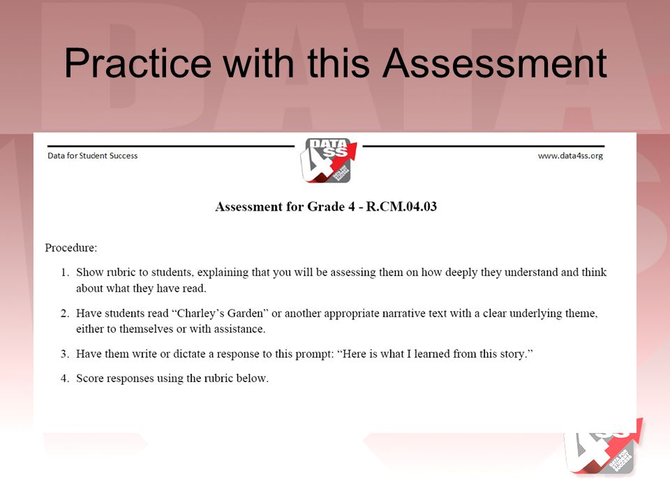 Practice with this Assessment