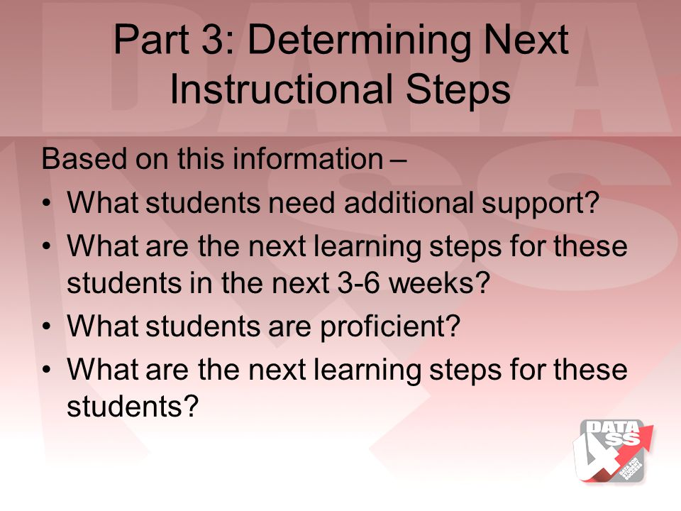 Part 3: Determining Next Instructional Steps