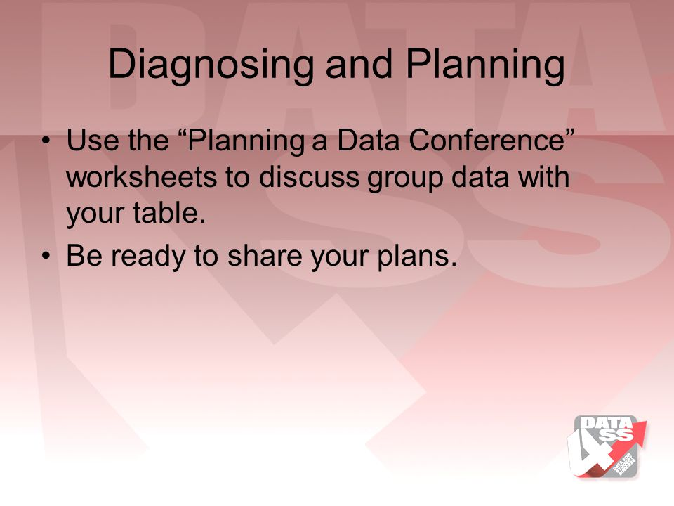 Diagnosing and Planning