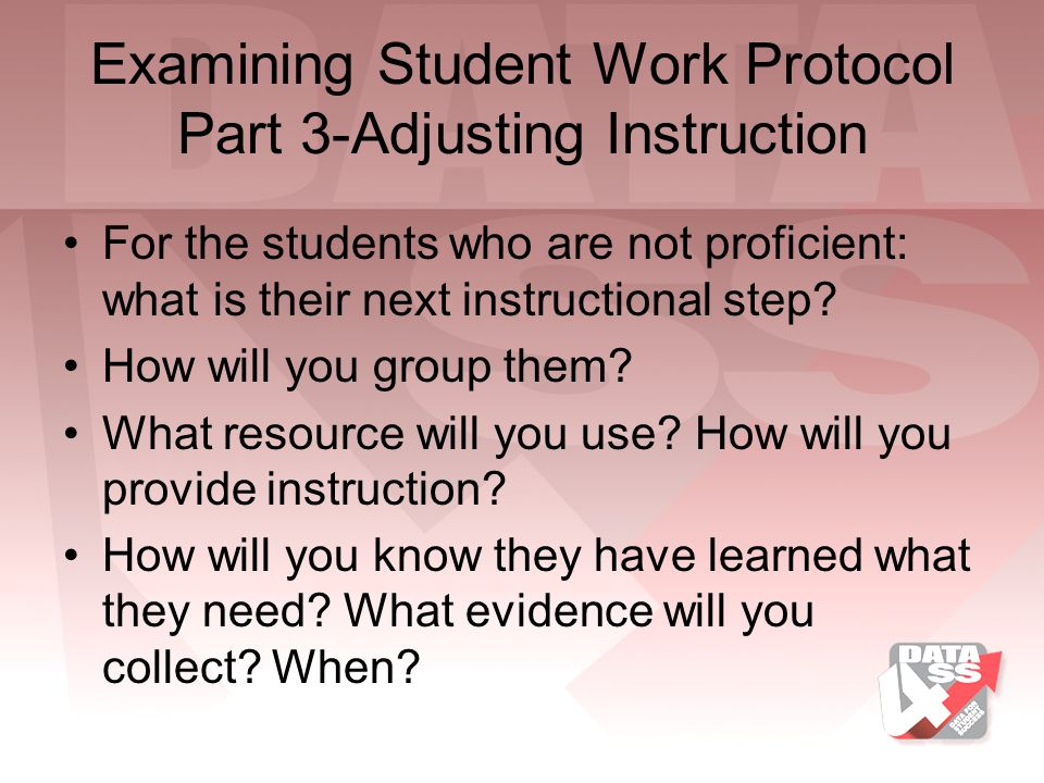 Examining Student Work Protocol Part 3-Adjusting Instruction