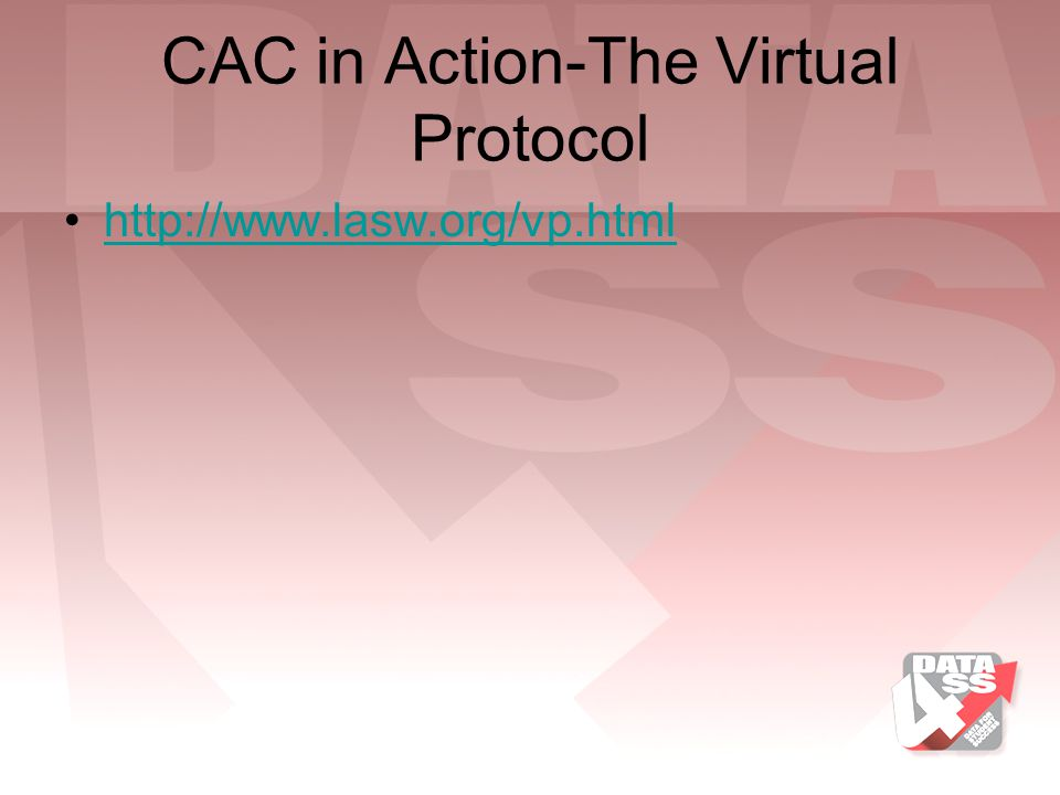CAC in Action-The Virtual Protocol