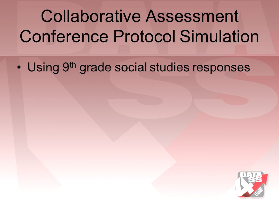 Collaborative Assessment Conference Protocol Simulation
