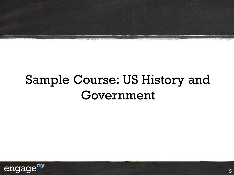 Sample Course: US History and Government
