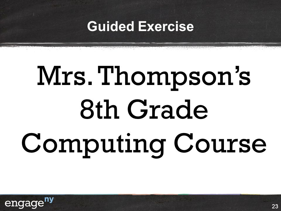 Mrs. Thompson's 8th Grade Computing Course