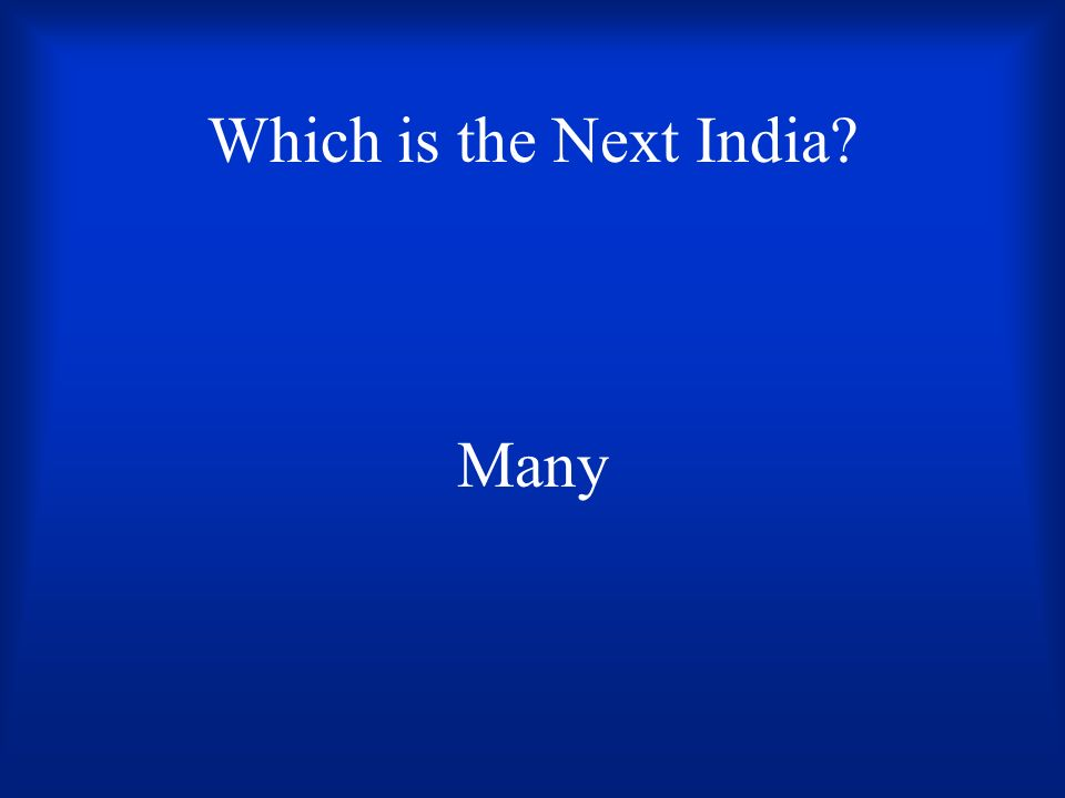 Which is the Next India Many