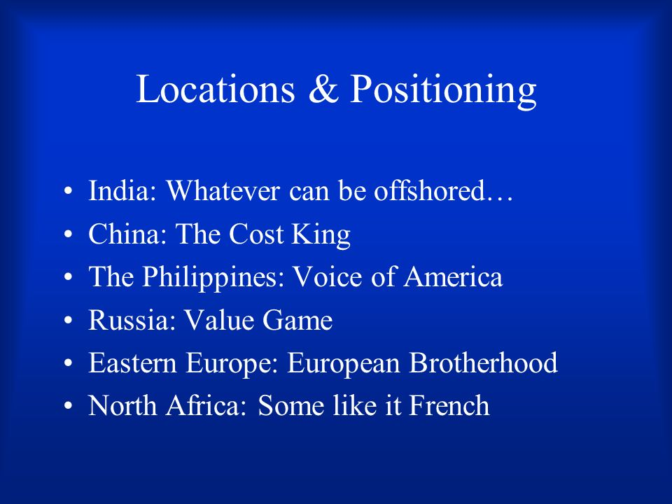 Locations & Positioning