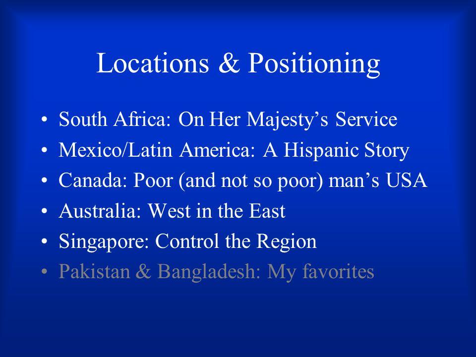 Locations & Positioning