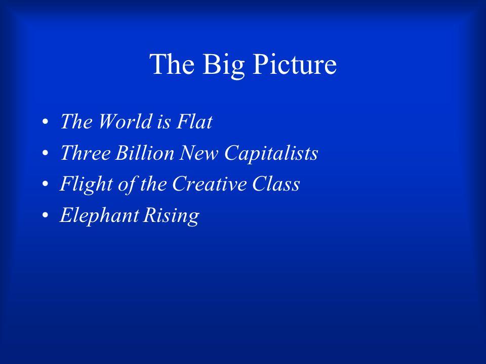 The Big Picture The World is Flat Three Billion New Capitalists