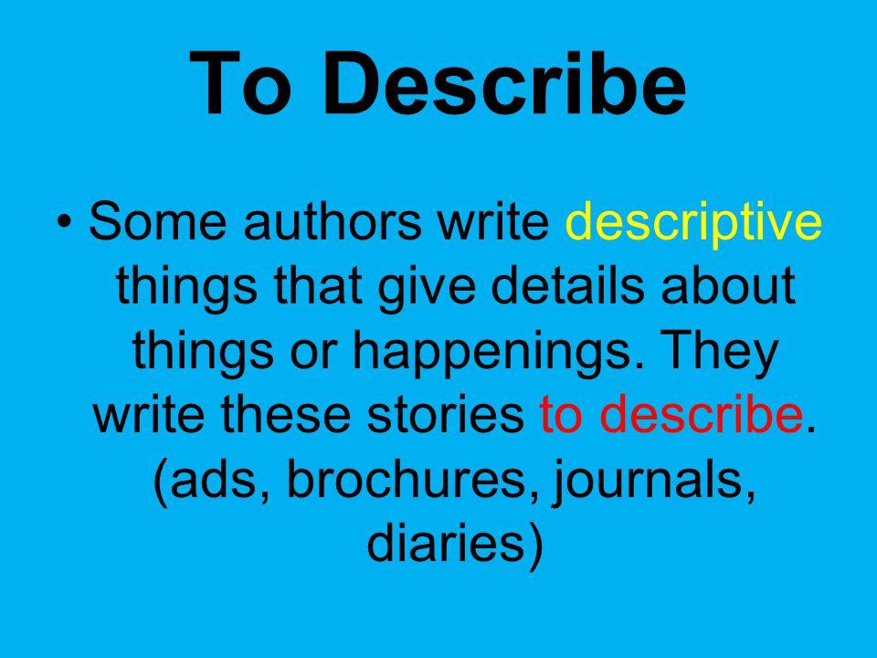 To Describe