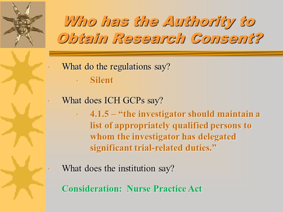 Who has the Authority to Obtain Research Consent