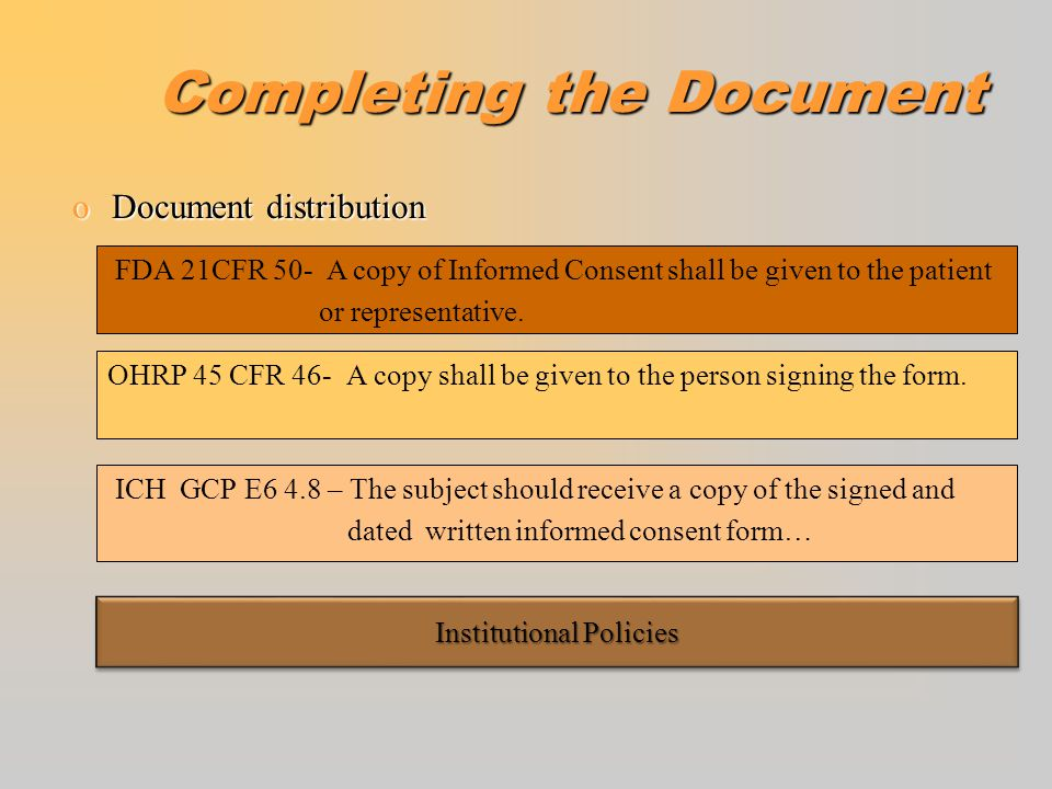 Completing the Document