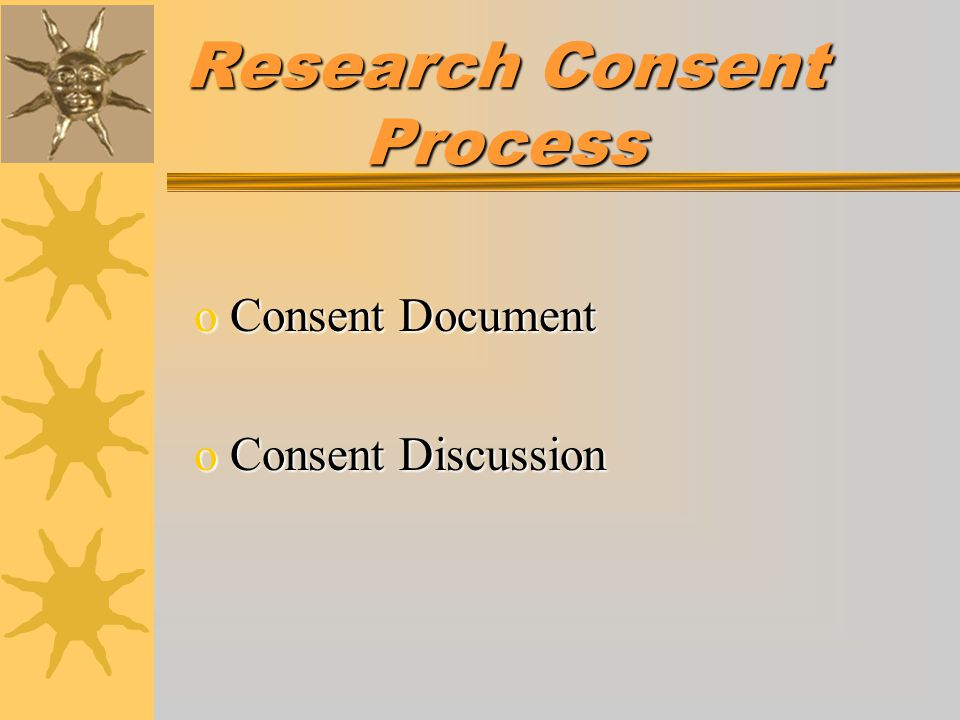 Research Consent Process