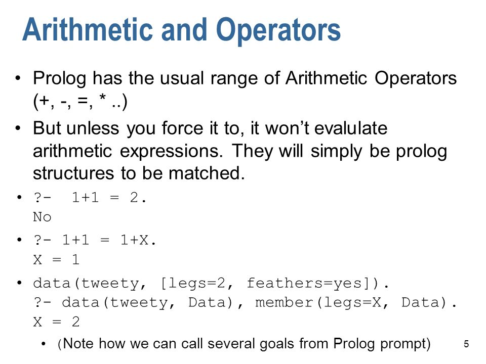 Arithmetic and Operators