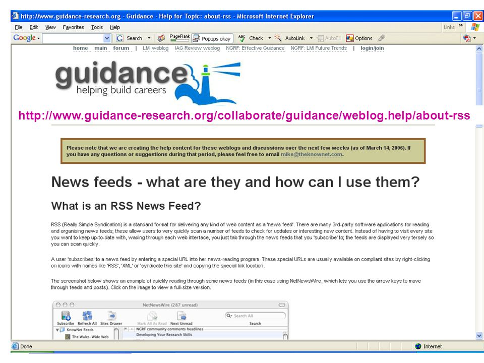 http://www. guidance-research. org/collaborate/guidance/weblog