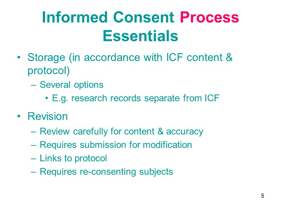 Informed Consent Process Essentials
