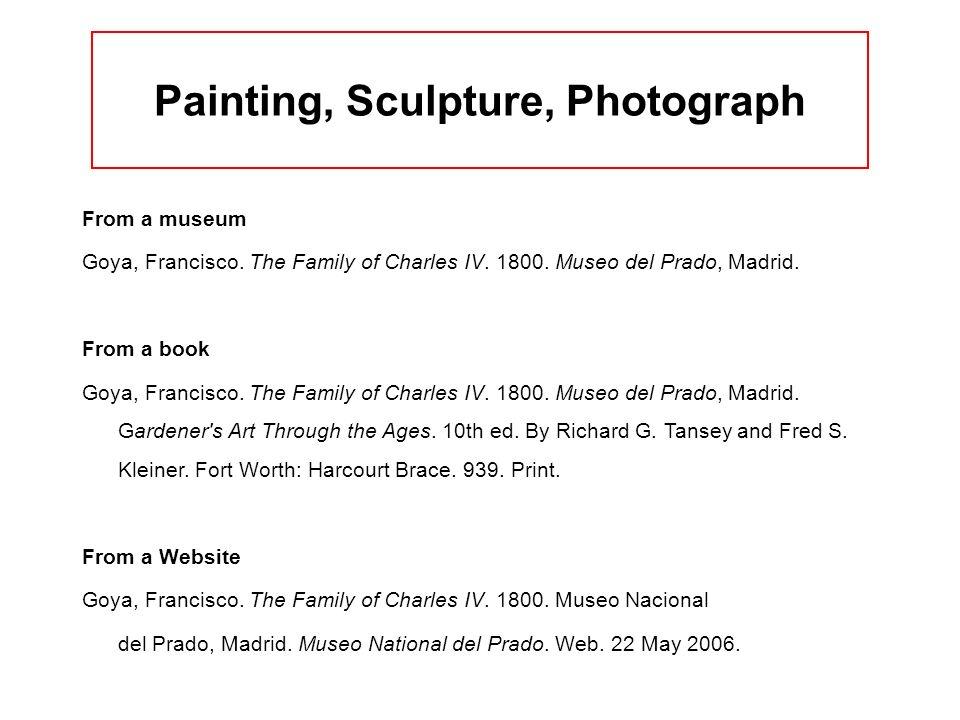 Painting, Sculpture, Photograph