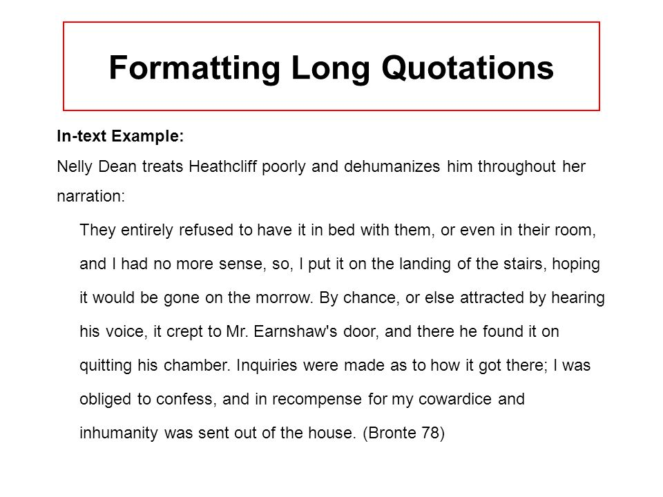 Formatting Long Quotations