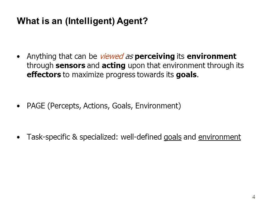 What is an (Intelligent) Agent