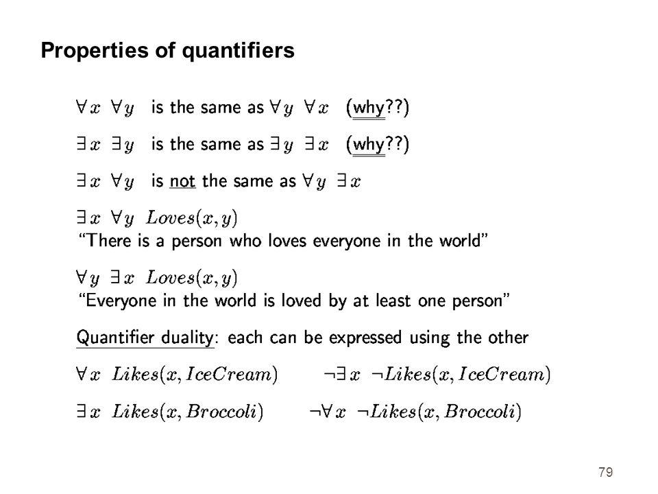 Properties of quantifiers