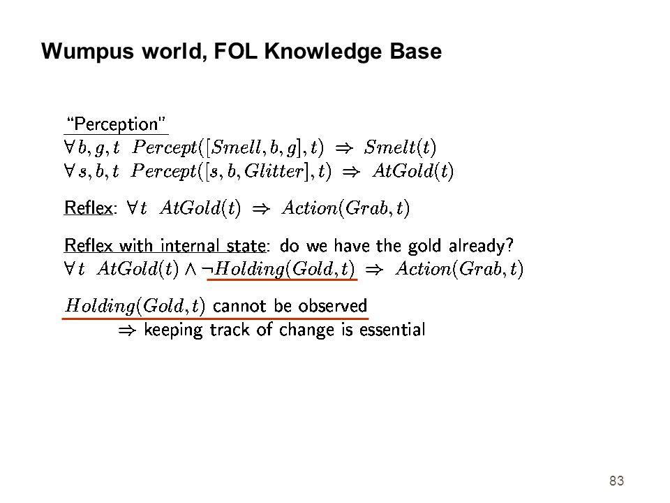 Wumpus world, FOL Knowledge Base