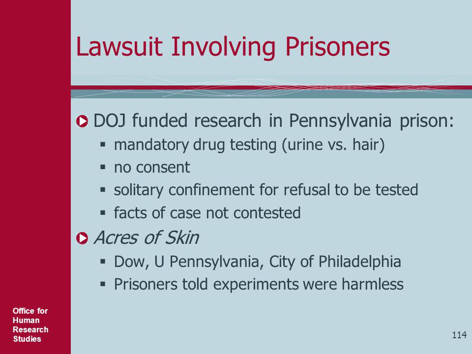 Lawsuit Involving Prisoners
