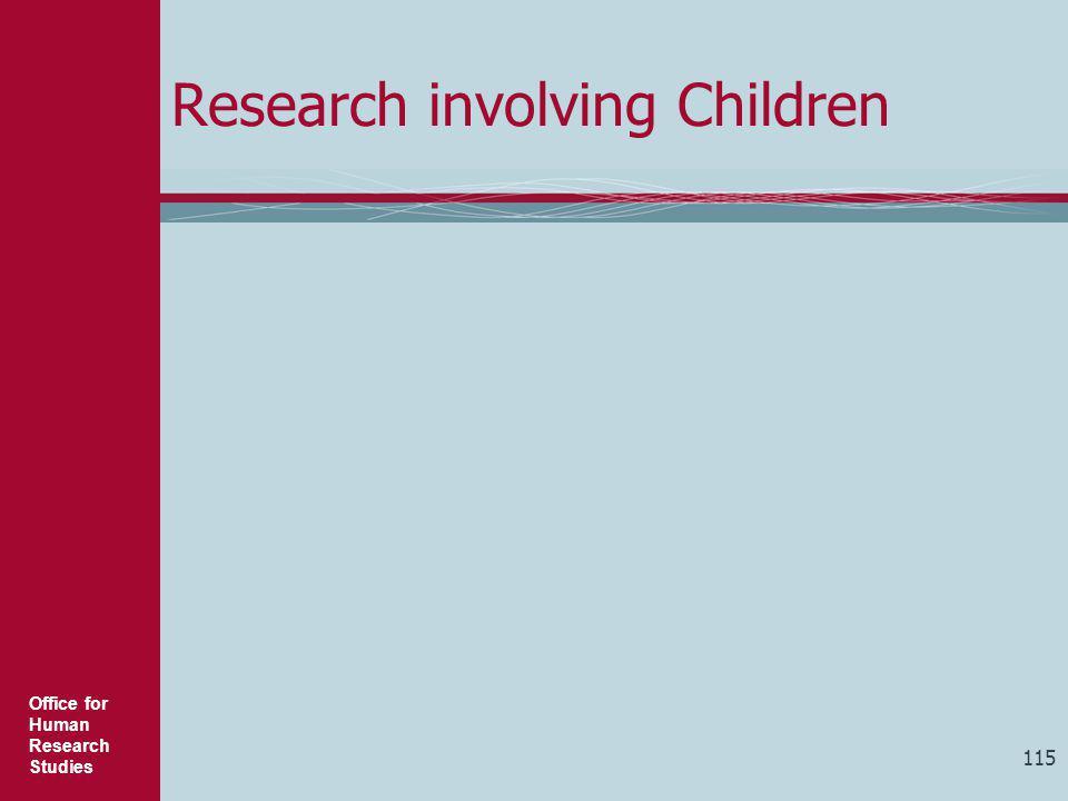 Research involving Children