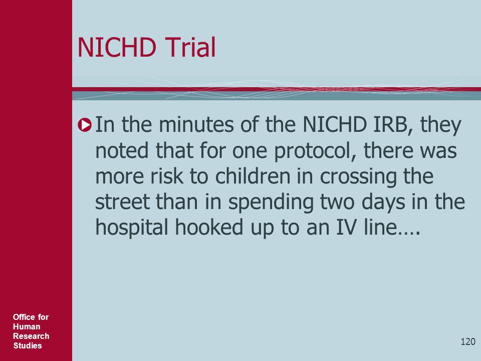 NICHD Trial