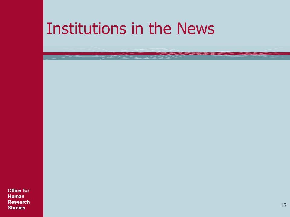Institutions in the News