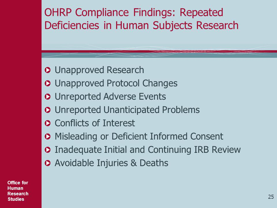 Unapproved Protocol Changes Unreported Adverse Events