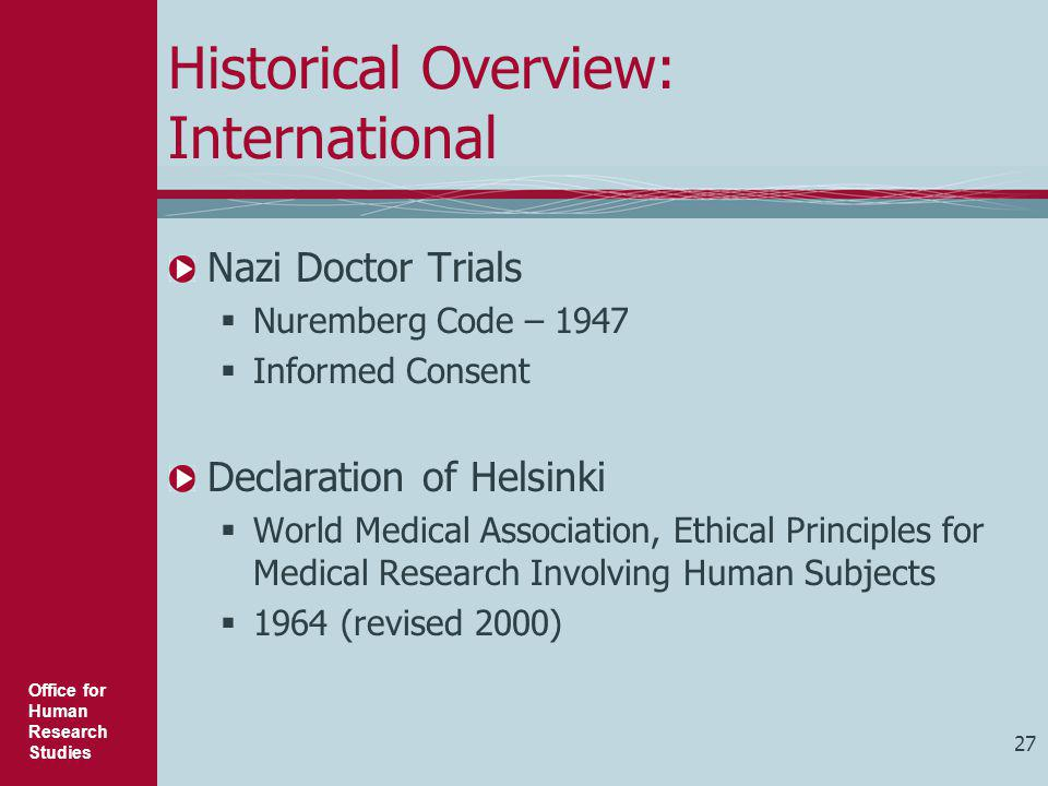 Historical Overview: International
