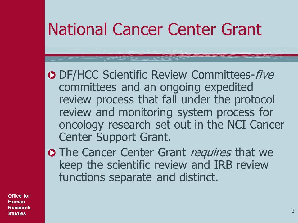 National Cancer Center Grant