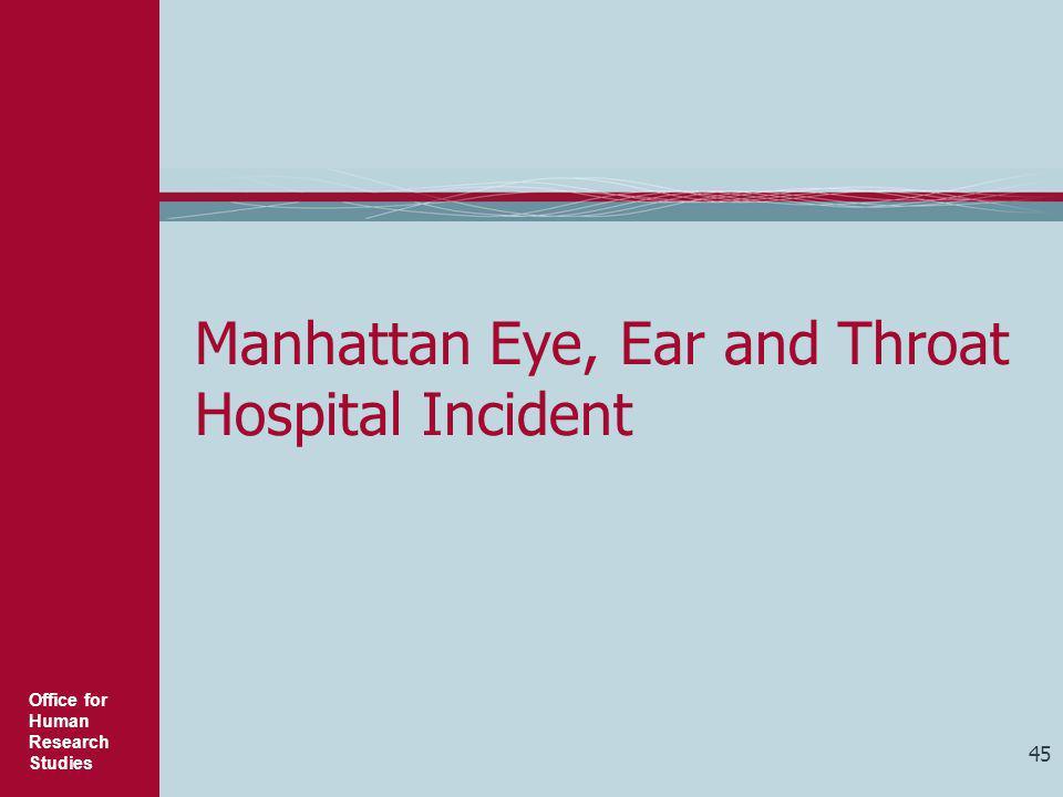 Manhattan Eye, Ear and Throat Hospital Incident