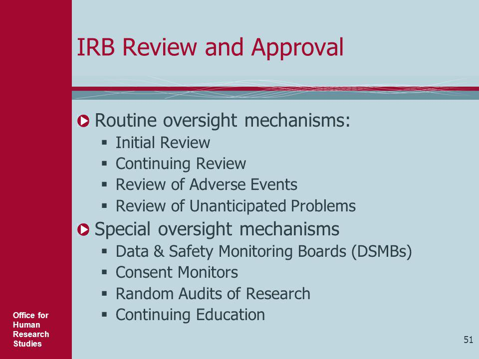IRB Review and Approval
