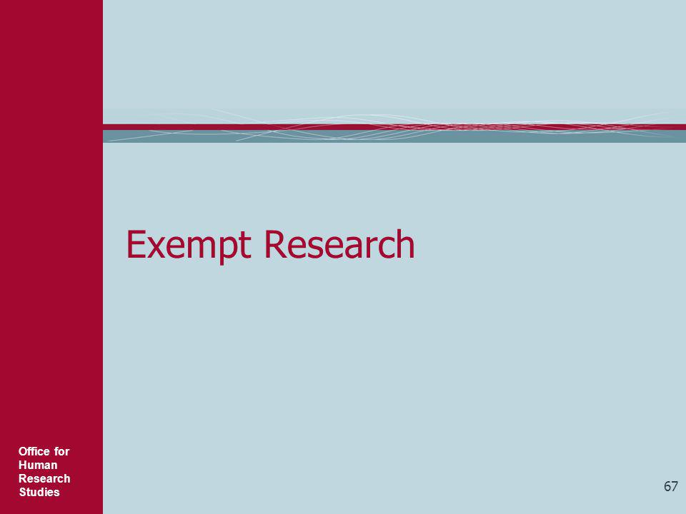 Exempt Research