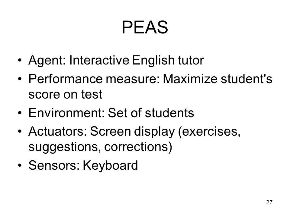 PEAS Agent: Interactive English tutor