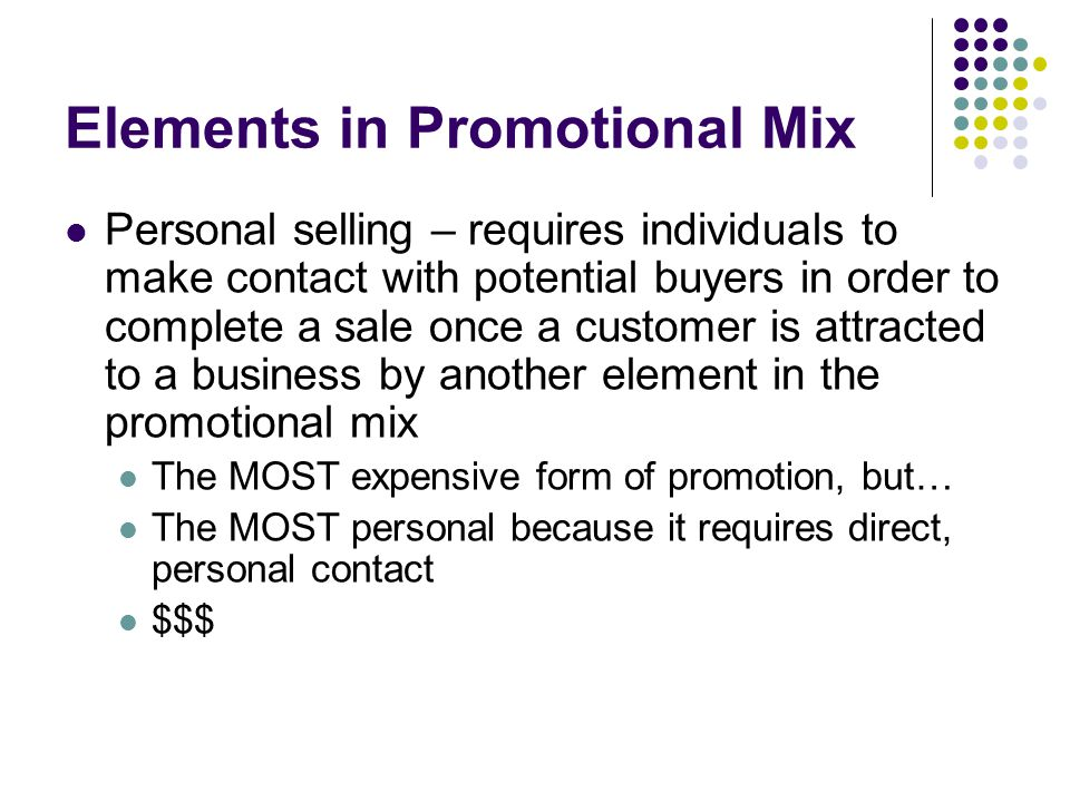 Elements in Promotional Mix