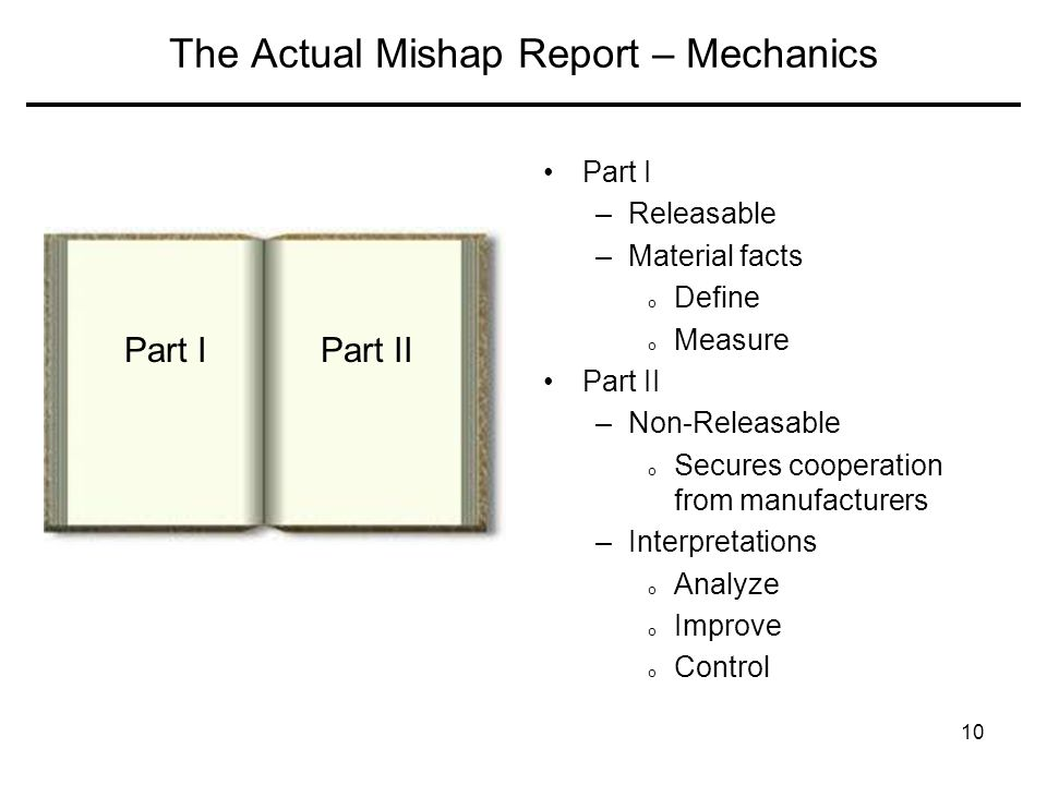 The Actual Mishap Report – Mechanics
