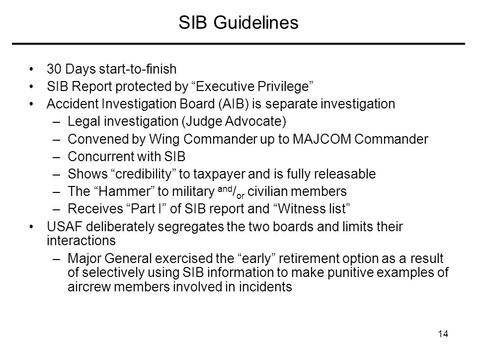 SIB Guidelines 30 Days start-to-finish