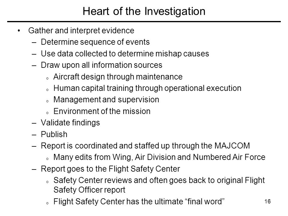 Heart of the Investigation