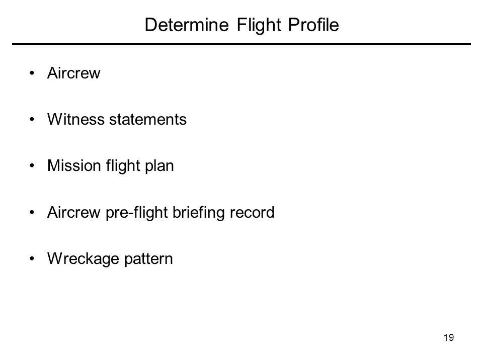 Determine Flight Profile