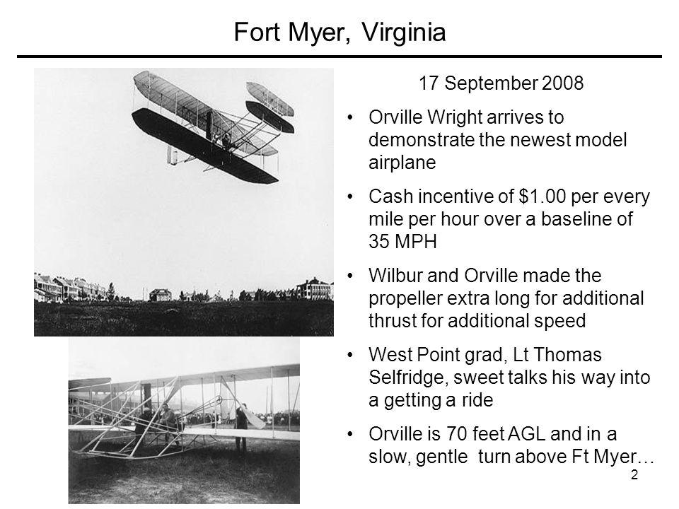 Fort Myer, Virginia 17 September 2008
