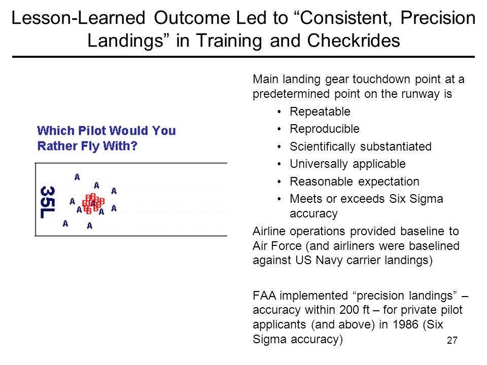 Lesson-Learned Outcome Led to Consistent, Precision Landings in Training and Checkrides