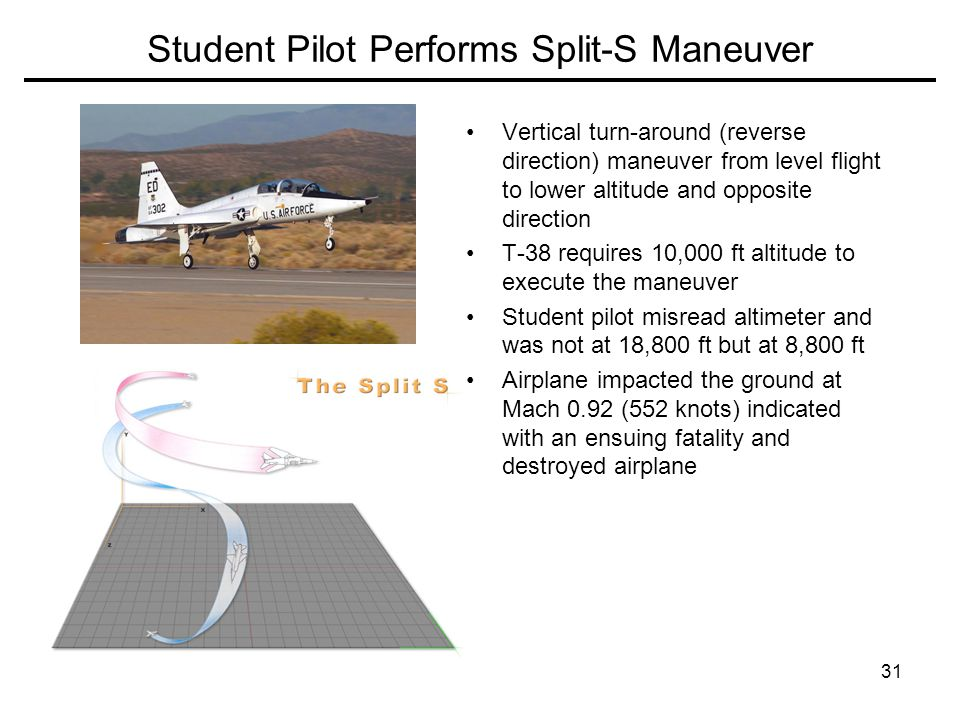 Student Pilot Performs Split-S Maneuver