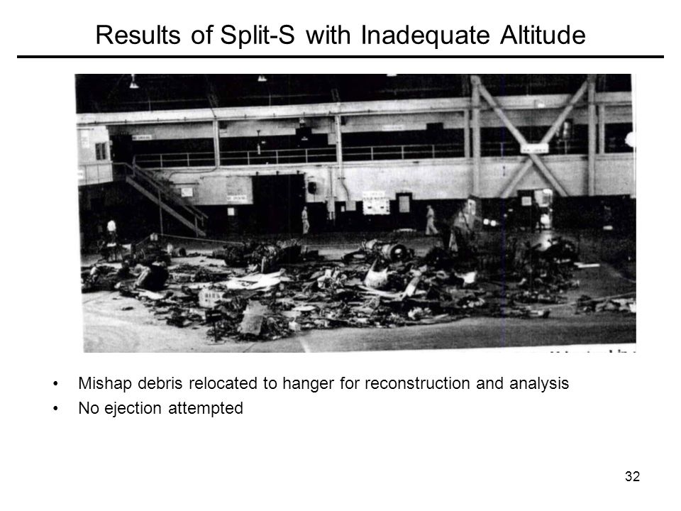 Results of Split-S with Inadequate Altitude
