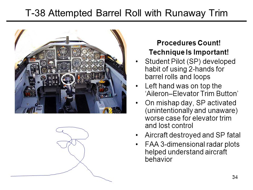 T-38 Attempted Barrel Roll with Runaway Trim