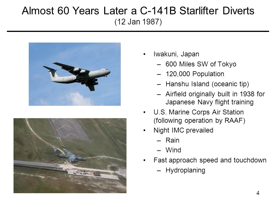Almost 60 Years Later a C-141B Starlifter Diverts (12 Jan 1987)
