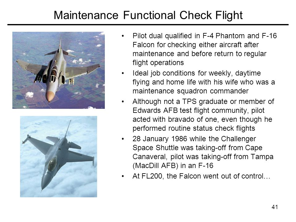 Maintenance Functional Check Flight
