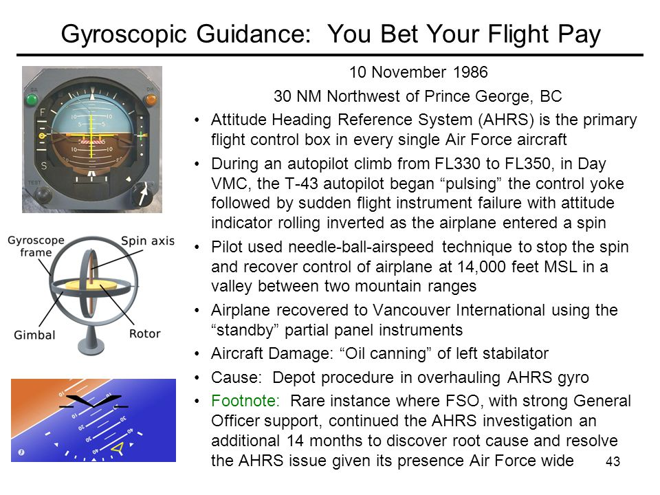 Gyroscopic Guidance: You Bet Your Flight Pay