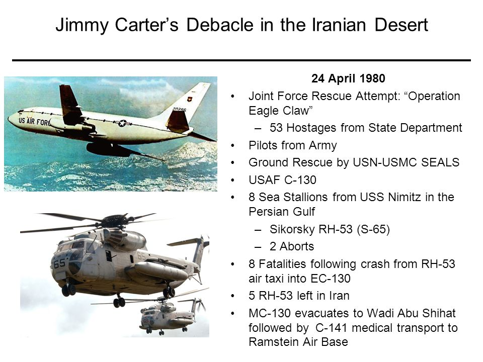 Jimmy Carter's Debacle in the Iranian Desert