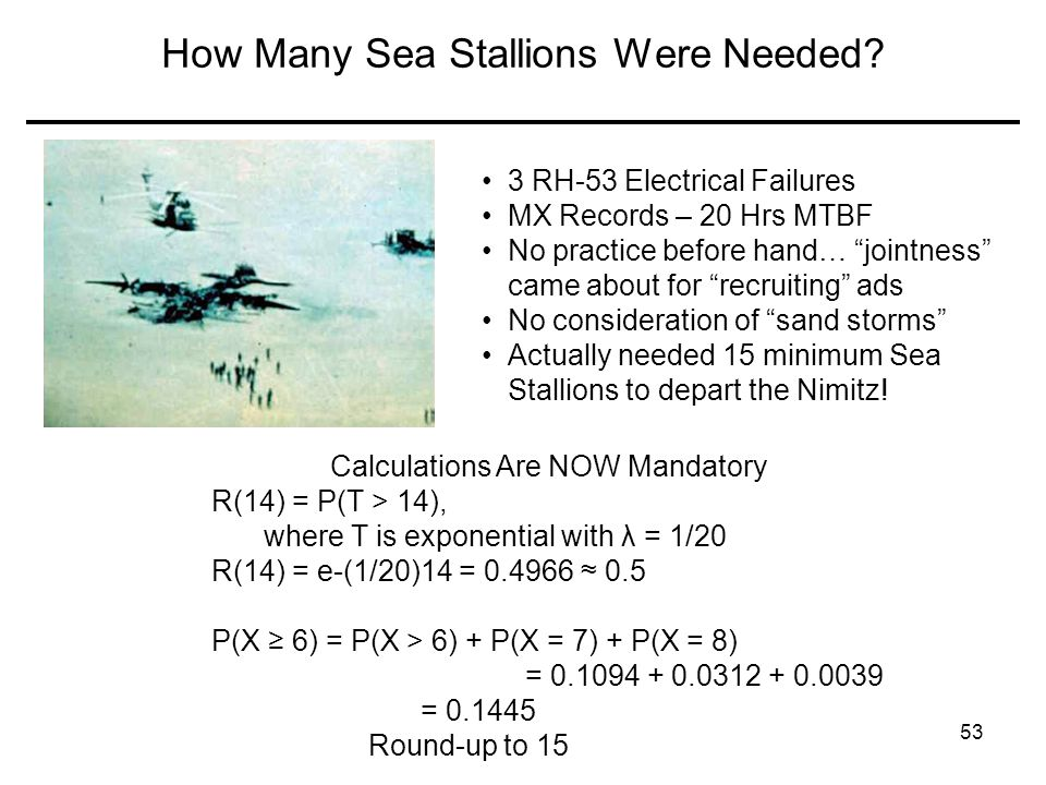 How Many Sea Stallions Were Needed